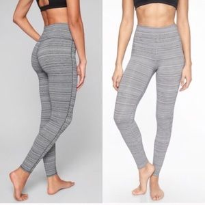 ATHLETA High Rise Chaturanga Leggings Grey White S